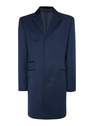 New And Lingwood Farleigh Wool Coat Blue