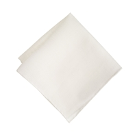 J.Crew English Linen Pocket Square White