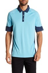 Adidas Climachill Print Block Polo Blue