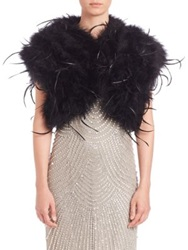 Alberto Makali Feather Bolero White Black