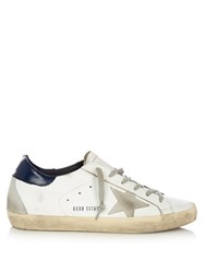 Golden Goose Super Star Low Top Leather And Suede Trainers Navy White