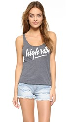 Spiritual Gangster High Vibe Burnout Racer Back Tank Vintage Black