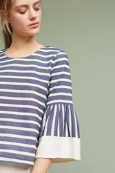 Anthropologie Mariana Striped Top Blue