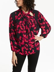 And Or Courtney Tie Neck Blouse Rara Floral