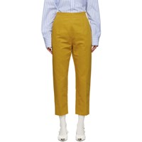 Marni Yellow Drill Cropped Trousers