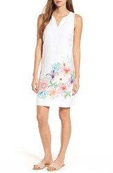Tommy Bahama 'S Hibiscus Sketch Shift Dress White