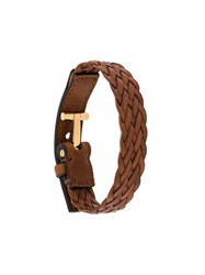Tom Ford Woven Bracelet Brown