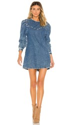 Free People Self Control Denim Mini. Blue