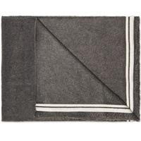 Our Legacy Uniform Scarf Striped Charcoal Fleece