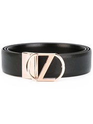 Z Zegna Logo Plaque Belt Men Calf Leather 110 Black