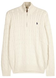 Polo Ralph Lauren Ivory Cable Knit Silk Jumper