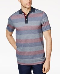 Tasso Elba Men's Striped Supima Polo Only At Macy's Dark Combo