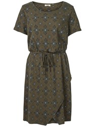 Fat Face Cally Folk Geo Dress Khaki