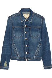 L'agence Celine Stretch Denim Jacket Mid Denim