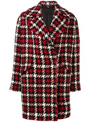 Tagliatore Checked Coat Red