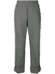 Thom Browne Frayed Edge Classic Fit Trouser Grey