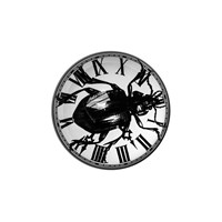 Rory Dobner Domed Paperweight Beetle Clock