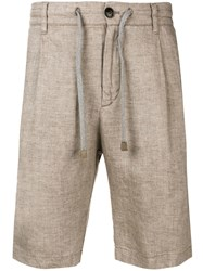 Eleventy Tailored Shorts Brown