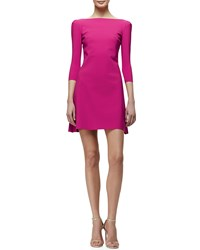 La Petite Robe Di Chiara Boni Marcelle 3 4 Sleeve Cocktail Dress Lapone Women's Size 10 Lampone