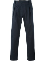 Al Duca D'aosta 1902 Pleat Detail Chino Trousers Blue