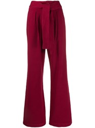 Levi's Made And Crafted Wide Leg Trousers Red