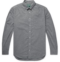 Gitman Brothers Vintage Button Down Collar Cotton Flannel Shirt Gray