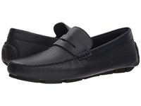 Canali Penny Driver Midnight Navy Slip On Shoes Blue