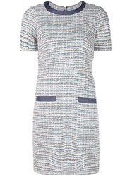 Veronica Beard Tweed Shift Dress Blue
