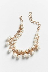 Urban Outfitters Ornate Pearl Collar Necklace Gold