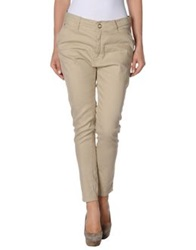Paolo Pecora Donna Casual Pants Sand