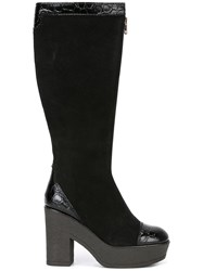 See By Chloe Embossed Detail High Boots Black