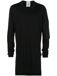 Lost And Found Rooms Pocketed Tunic Top Black
