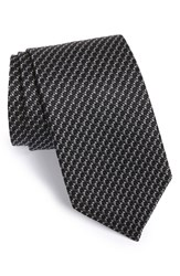Men's J.Z. Richards Geometric Silk Tie Black