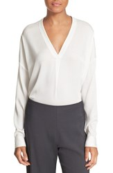 Vince Women's Stretch Silk V Neck Blouse