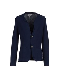Macchia J Knitwear Cardigans Men Dark Blue