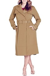 City Chic Plus Size Women's Classic Trench Coat