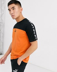 Puma Taped T Shirt Orange