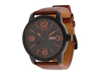 Citizen Bm8475 26E Eco Drive Strap Watch Black Ion Plated Brown Watches