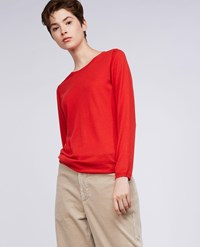 Aspesi Wool Sweater Lobster Orange