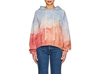 Re Done Tie Dyed Distressed Cotton Oversized Hoodie Multi
