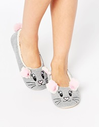 Asos Nilly Rabbit Slippers Grey