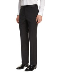 Etro Wool Satin Trim Tuxedo Pants Black