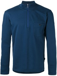 Paul Smith Ps By Zip Placket Top Blue