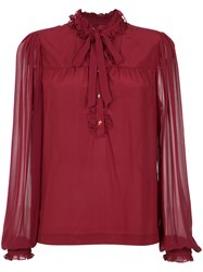 Isolda Silk Blouse Women Silk 42 Wine