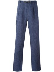 Brunello Cucinelli Loose Fit Trousers Blue