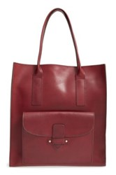 Frye Casey Leather Tote Red