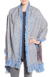 Women's Dena Reversible Cashmere And Genuine Rex Rabbit Fur Capelet