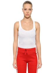 Etoile Isabel Marant Cotton Ribbed Jersey Tank Top White