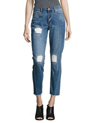 Noisy May Lose Ankle Distressed Jeans Blue