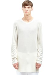 Aiezen Cashmere And Silk Rib Sweater White
